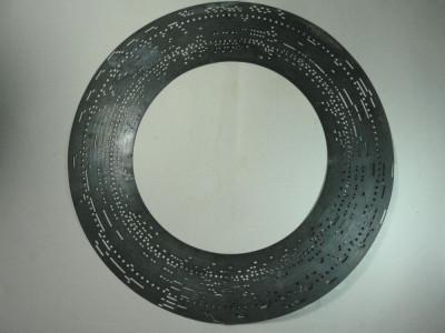 DISC MUZICAL METALIC PERFORAT - VECHI - MANUFACTURA PHOENIX - ANII 1800 foto