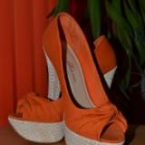 Pantofi de dama BERSHKA marimea 38 - Pantof dama, Culoare: Orange, Orange
