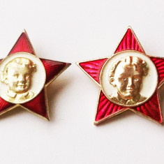 LOT 2 INSIGNE RUSIA URSS STEA ROSIE LENIN tanarul Octobrist DIFERITE, 30 mm ** - Insigna, Europa