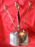 Antichitati / Obiecte liturgice / SFESNIC CU 4 BRATE,Sfesnic cu suport LAMPA PETROL LAMPANT,POZA REALA