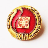 INSIGNA RUSIA URSS CCCP SPORT SPARTACHIADA XIII ALMA ATA 1974, 32 mm **