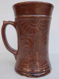 Cumpara ieftin AuX: Halba de bere, veche, confectionata din ceramica cu motive florale - Korond!