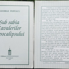 Popescu, Sub sabia Cavalerilor Apocalipsului, Majadahonda, 1997, legionara - Istorie