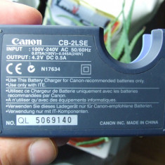 Incarcator baterie ACUMULATOR camera foto Canon model CB-2LSE aparat foto - Incarcator Aparat Foto