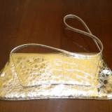 Plic piele naturala auriu