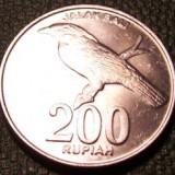 Indonezia 200 rupia 2003 UNC pasare, Asia
