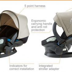 Vand capotina crem pentru scaun auto Stokke Izi Sleep - Scaun auto copii BeSafe, 0+ (0-13 kg), Opus directiei de mers