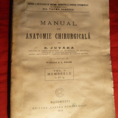 E.Juvara - Manual de Anatomie Chirurgicala vol2. - Ed. 1925