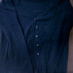 Bluza, H&M - Bluza dama H&m, Marime: 36, Culoare: Bleumarin, Maneca lunga, Casual, Bumbac