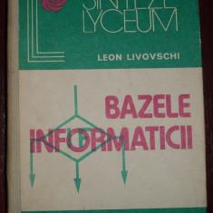 Leon Livovschi - Bazele informaticii