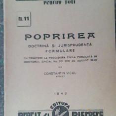 Poprirea-doctrina si jurisprudenta,formulare-Avocat Constantin Vicol