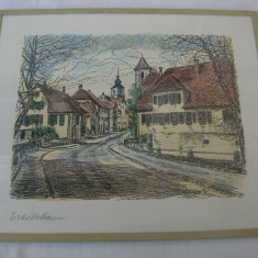 Frumoasa litografie pe carton (1)