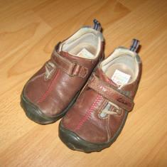 Pantofi CLARKS - Pantofi copii Clarks, Culoare: Maro, Marime: 24.5, Baieti, Maro
