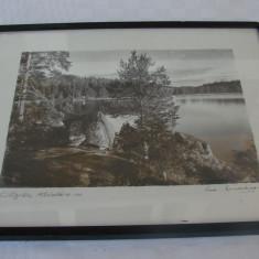 Superba litografie veche pe carton din anul 1936, semnata Sam Lindskog (7)