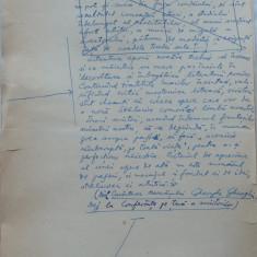 Insemnari ; Manuscris olograf al lui Romulus Vulpescu, 8 foi, semnat - Pliant Meniu Reclama tiparita