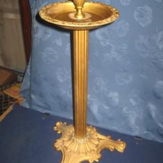 Scrumiera stativ mare veche bronz perioada 1900, stare buna.