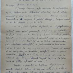 Mustata, istorioara morala, in pofida aparentelor ; Manuscris al lui Romulus Vulpescu, 11 foi scrise olograf si datate 1957, semnate - Pliant Meniu Reclama tiparita