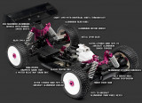 RC Buggy 1/8 Nitro Hot Bodies Lightning 2 Pro Evo NOU!!!
