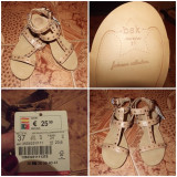 Sandale Bershka nou-noute!! - Sandale dama, Culoare: Crem, Marime: 37, Crem