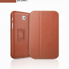 Husa Executive Case Piele Naturala Samsung Galaxy Tab3 P3200 by Yoobao Originala Brown - Husa Tableta