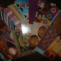 Lot de 16 carti postale - Uzbekistan, arta traditionala, 1975, Necirculata, Fotografie, Asia