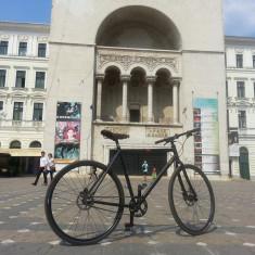 BICICLETA VSF FAHRRADMANUFAKTUR E1NS SINGLESPEED DISC - Bicicleta de oras, 28 inch, Numar viteze: 1, Negru mat, Discuri, Baieti