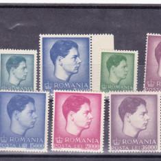 ROMANIA LP 212-1947 UZUALE MIHAI FORMAT MARE SI MIC - Timbre Romania