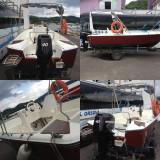 Vand barca capacitate 10 persoane, cu motor Mercury de 40 CP in 4 timpi, motor de rezerva Evrinrude de 6 CP si peridoc