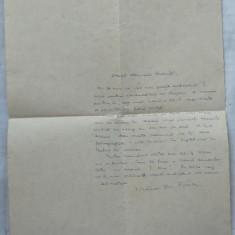 Scrisoare a lui Victor Ion Popa catre Emanoil Bucuta, din august 1937 - Autograf