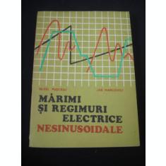 SILVIU PUSCASU * JAK MARCOVICI - MARIMI SI REGIMURI ELECTRICE NESINUSOIDALE {1974}