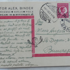 Carte postala  expediata de Sasa Pana ( Alexandru Binder ) in 1934 , avangarda