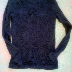 Bluza dama zara basic mulata M neagra, absolut exceptionala, inditex, italia, aproape noua, Marime: 38, Culoare: Negru, Maneca lunga, Universala