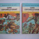 Jules Vernes COPII CAPITANULUI GRANT{2 VOLUME, CARTONATE}, RF3/1 - Carte poezie copii