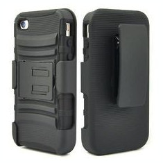 Toc silicon rigid Iphone 4 prindere curea - Husa Telefon Apple, iPhone 4/4S