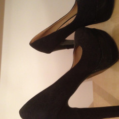 Pantofi ana lublin - Pantof dama Ana Lublin, Culoare: Negru, Marime: 39 1/3, Negru, 39 1/3, Cu toc