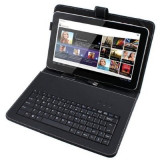 Husa cu tastatura MICROUSB pentru tablete 10.1 inch