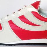 44_Adidasi SUPERGA originali_piele naturala_adidasi barbati_panza_cutie, 44, Rosu, Textil