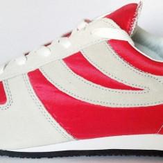 44_Adidasi SUPERGA originali_piele naturala_adidasi barbati_panza_cutie, Culoare: Rosu, Textil