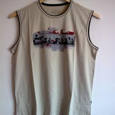 Tricou fara maneci 5XL (75cm latime) - Tricou XXXL, Culoare: Crem, Crem