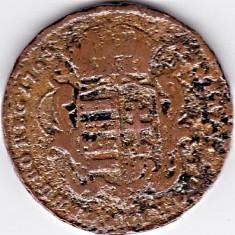 Ungaria, Austria DENAR cupru 1763, PATRONA HUNGARIAE, madona cu pruncul, Europa