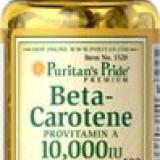 Betacaroten 10000 UI, 100 gelule, produs SUA - Remediu din plante