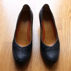 PANTOFI PIELE NATURALA MARCA CLARKS MARIME 37 - Pantof dama Clarks, Negru
