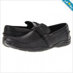 Mocasini GUESS Ansley - Piele Naturala - Pantofi Barbati - 100% AUTENTIC - Mocasini barbati Guess, Marime: 41, Culoare: Negru