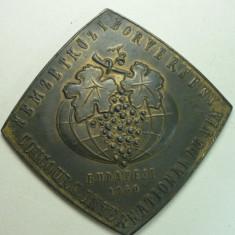 MEDALIA UNIFATA - CONCURSUL INTERNATIONAL DE VIN  - BUDAPESTA 1960 - RARA