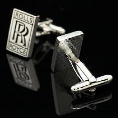 Butoni noi ROLLS ROYCE Logo emblema + cutie speciala pentru butoni