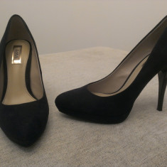 Pantofi Dama Zara - Pantof dama Zara, Culoare: Negru, Marime: 38, Negru, Cu toc
