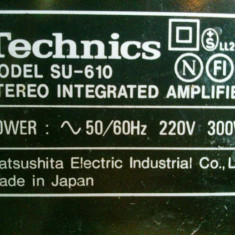 Amplificator Hi-Fi Technics SU-610 2x50Watt (4 Ohm), 2x38Watt (8 Ohm) - Amplificator audio