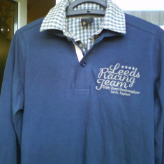 Bluza tricou NEW YORKER Smog Polo originala marimea S reducere - Bluza barbati, Marime: S, Culoare: Bleumarin, Bumbac