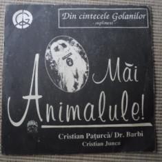 DIN CANTECELE GOLANILOR cristian paturca MAI ANIMALULE rond muzica single 1992 - Muzica Folk electrecord, VINIL