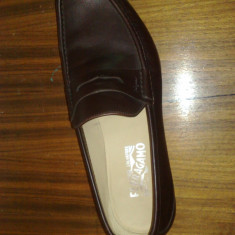 Pantofi bărbați, SALVATORE FERRAGAMO - Pantof barbat Salvatore Ferragamo, Marime: 44.5, Culoare: Maro, Maro
